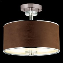 3-LIGHT SEMI FLUSHMOUNT - Satin Nickel