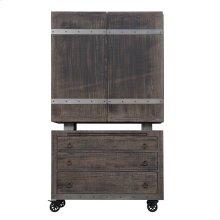 Emerald Home Dakota Bar Cart and Cabinet Reclaimed Pine D570-50-05