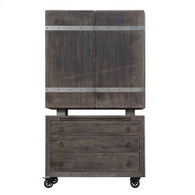 Emerald Home Dakota Bar Cart and Cabinet Reclaimed Pine D570-50