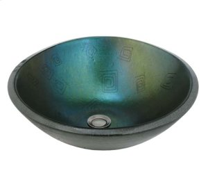 "17""W Metro Fusion Fiddleheads Glass Sink Product Image"