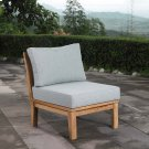 Marina Armless Outdoor Patio Teak Sofa in Natural Gray Product Image
