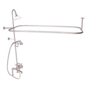 Code Rectangular Shower Unit - Cross / Brushed Nickel Product Image