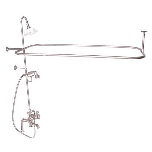 Code Rectangular Shower Unit - Cross / Brushed Nickel