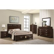 1012 Roswell Queen Storage Bed with Dresser & Mirror Product Image