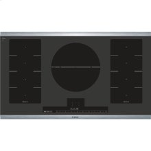 """36"""" Induction Cooktop Benchmark Series - Black with Stainless Steel Strips"""