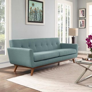 Engage Upholstered Fabric Sofa in Laguna