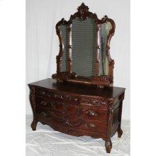 Rococo Dresser And Mirror