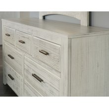 7 Drawer Dresser with Landscape Mirror