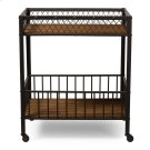 Baxton Studio Bentley Antiqued Vintage Industrial Metal and Wood Wheeled Kitchen Serving Cart Product Image