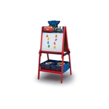 Disney/Pixar Cars Wooden Double Sided Easel with Storage by Delta Children - Cars