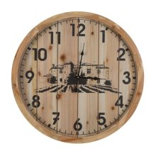 WOODED WALL CLOCK