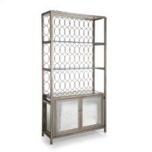 Shelf with 2 Door Cabinet