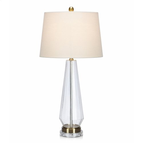 Zenais Acrylic and Glass Table Lamp