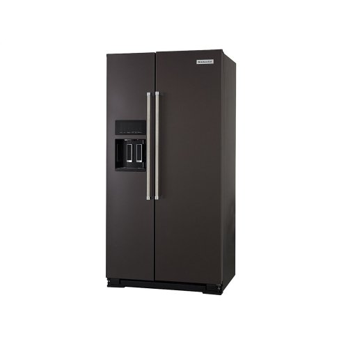 19.9 cu ft. Counter-Depth Side-by-Side Refrigerator with Exterior Ice and Water and PrintShield finish - Black Stainless Steel with PrintShield™ Finish