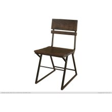 Iron Chair w/wooden seat & back rest