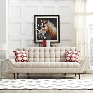 Response Upholstered Fabric Sofa in Beige