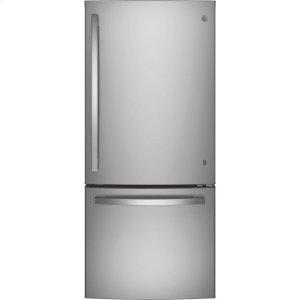 GE® ENERGY STAR® 21.0 Cu. Ft. Bottom-Freezer Refrigerator Product Image