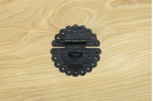 """Black 3.5"""" Furniture Hasp 450570CH Product Image"""
