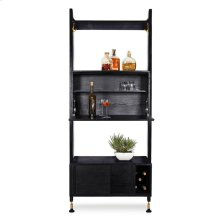 Theo Wall Unit With Bar  Black