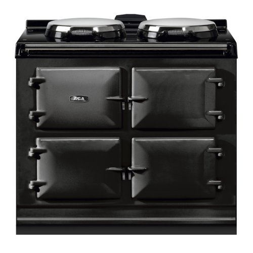 "AGA Dual Control 39"" Electric/Natural Gas Black with Stainless Steel trim"