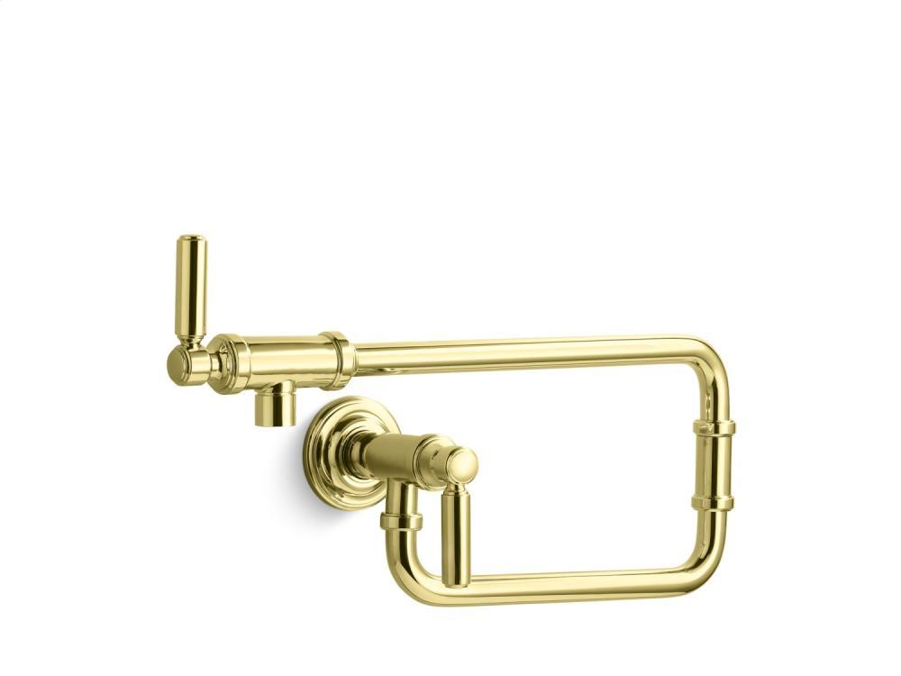 Wall-Mount Pot Filler - Unlacquered Brass