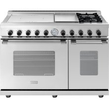 """Range NEXT 48"""" Classic Stainless steel 4 induction, griddle, 2 gas and 2 gas ovens"""
