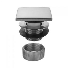 Tristan Brass - Square Top Toe Control Tub Drain