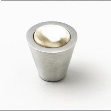 Satin Pewter & Natural Cattle Horn Cabinet Knob - 031