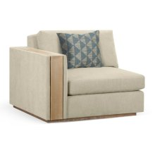 "45"" Hamilton Golden Ale Oak Left One-Seat Sofa Sectional, Upholstered in Synergy"