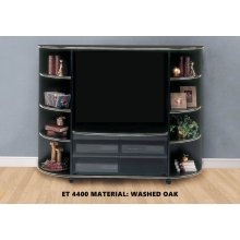 TV STAND - WASHED OAK ENTERTAINMENT CENTER
