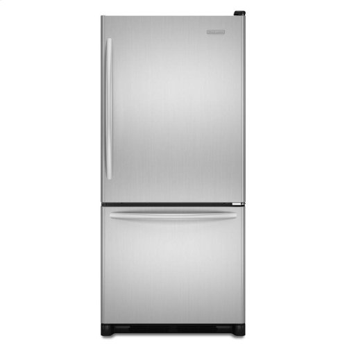 KitchenAid ® 19 Cu. Ft. Standard-Depth Bottom-Freezer Refrigerator, Architect® Series II - Stainless Steel