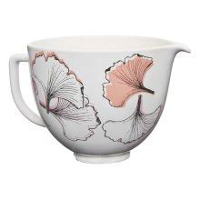 5 Quart Gingko Leaf Ceramic Bowl - Ginkgo Leaf