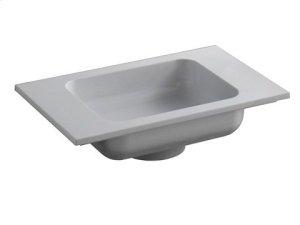 Cast mineral washbasin - white alpine Product Image
