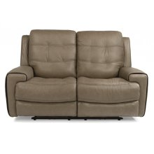 Wicklow Leather Power Reclining Loveseat with Power Headrests
