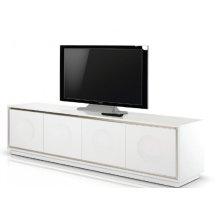 A&X Grand - Modern White Crocodile Lacquer TV Stand
