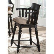 24 Inch Swivel Counter Chair - Black