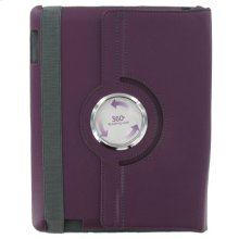 Polaroid Hard Shell iPad 2 and iPad 3 Rotating Folio Case, Purple - PAC100PU