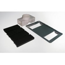 Recirculation kit for models XOV36 and XOV42 - includes parts for initial installation and two XORSQR activated carbon filter elements