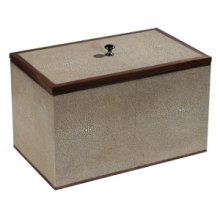 Small Taupe Shagreen Box