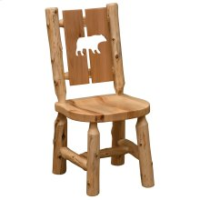 Cut-out Side Chair - Bear - Natural Cedar - Wood Seat