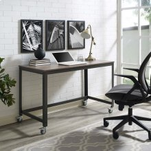 Vivify Computer Office Desk in Gray Walnut