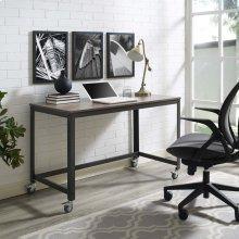 Vivify Computer Office Desk in Gray Walnut