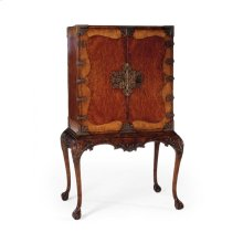 Queen Anne Walnut & Satinwood Drinks Cabinet