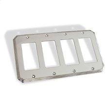 Quad GFI Square Deco Switch Plate - Polished Chrome