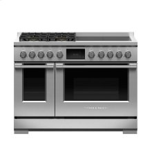 "Dual Fuel Range, 48"", 4 Burners with 4 Induction Zones, LPG"