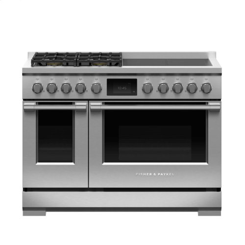 """Dual Fuel Range, 48"""", 4 Burners with 4 Induction Zones"""