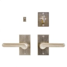 """Metro Privacy Set - 2 1/2"""" x 4 1/2"""" Silicon Bronze Brushed"""