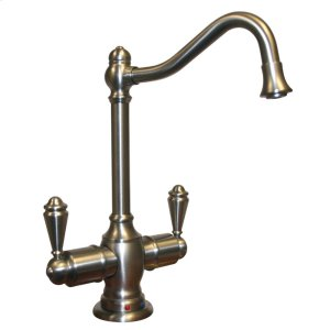 Point of Use instant hot and cold water faucet with a traditional spout and a self-closing hot water handle. Product Image