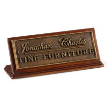 Jonathan Charles Counter Top Sign