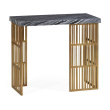 Marble Console Table with Brass Base